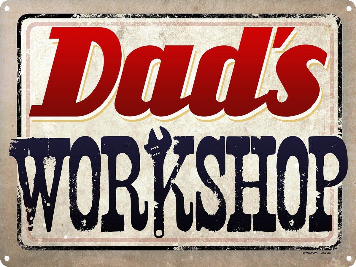 Grindstore Dad /& # 39; S Atelier Plaque en 40,7/x 30.5/cm