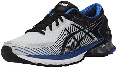 new arrivals 0ddba cabb4 ASICS Men s GEL-Kinsei 6 Running Shoe, Silver Black Blue, 6