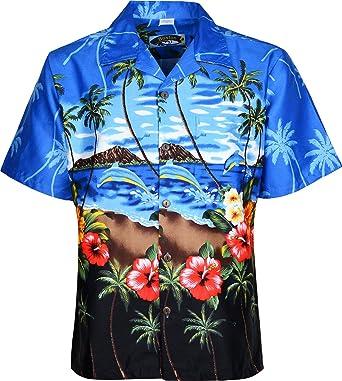 Boston Herren Schnittmuster für Hemden Hawaii-Strand Blumen Kurzarm ...
