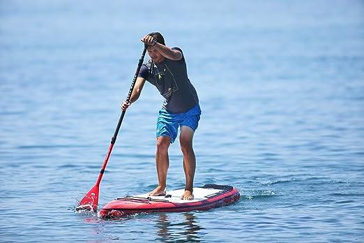 Aqua Marina BT-19RA01 Tabla de Surf Tabla de Stand up Paddle (Sup) - Tablas de Surf (Tabla de Stand up Paddle (Sup), Plano, V-cóncava, Rojo, Blanco, 150 kg, ...