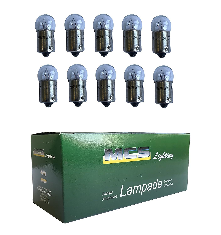 MELCHIONI 99432 Lampe 24/V 10/W Kugel BA15s Set von 10
