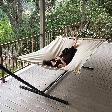 12 feet hammock stand  u0026 canvas hammock amazon     12 feet hammock stand  u0026 canvas hammock   garden  u0026 outdoor  rh   amazon