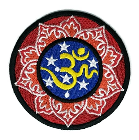 Aum Om Ohm Hindu Yoga Indian Lotus Lucky Sign Hippie logo ...