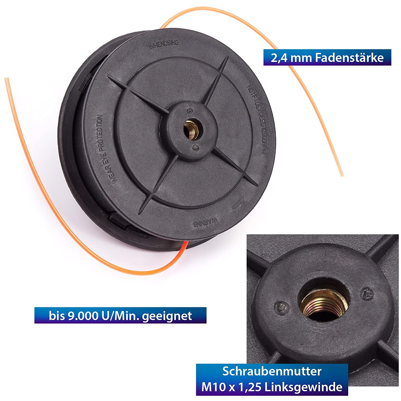 BC520 3 x Fadenkopf Fadenspule passend für Motorsense BC52