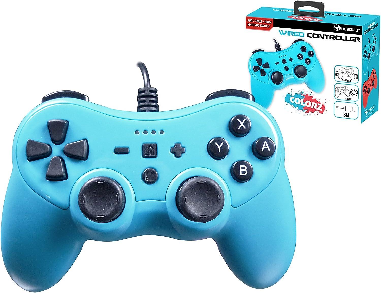 Mando controller para Nintendo Switch, con cable, Azul: Amazon.es: Videojuegos