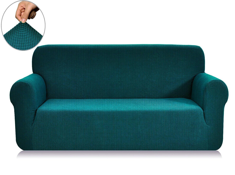 春意 1ピス 全13色 高品質伸縮素材 弾力 ジャカード生地ソファーカバー (3人掛け, ブルー) B00X59EIY2 Sofa|ブルー ブルー Sofa