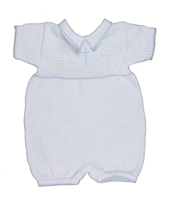 Amazon Com White Or Blue 100 Cotton Baby Boy S Infant Christening
