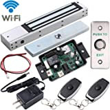 UHPPOTE 2.4GHz WiFi Outswinging Indoor 600lbs Electromagnetic Door Lock Access Control Kit Remote and Smartphone app…