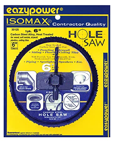 Amazon Com Eazypower 30125 6 Inch Hole Saw For Boards Including Corn Hole Board Plans Home Improvement
