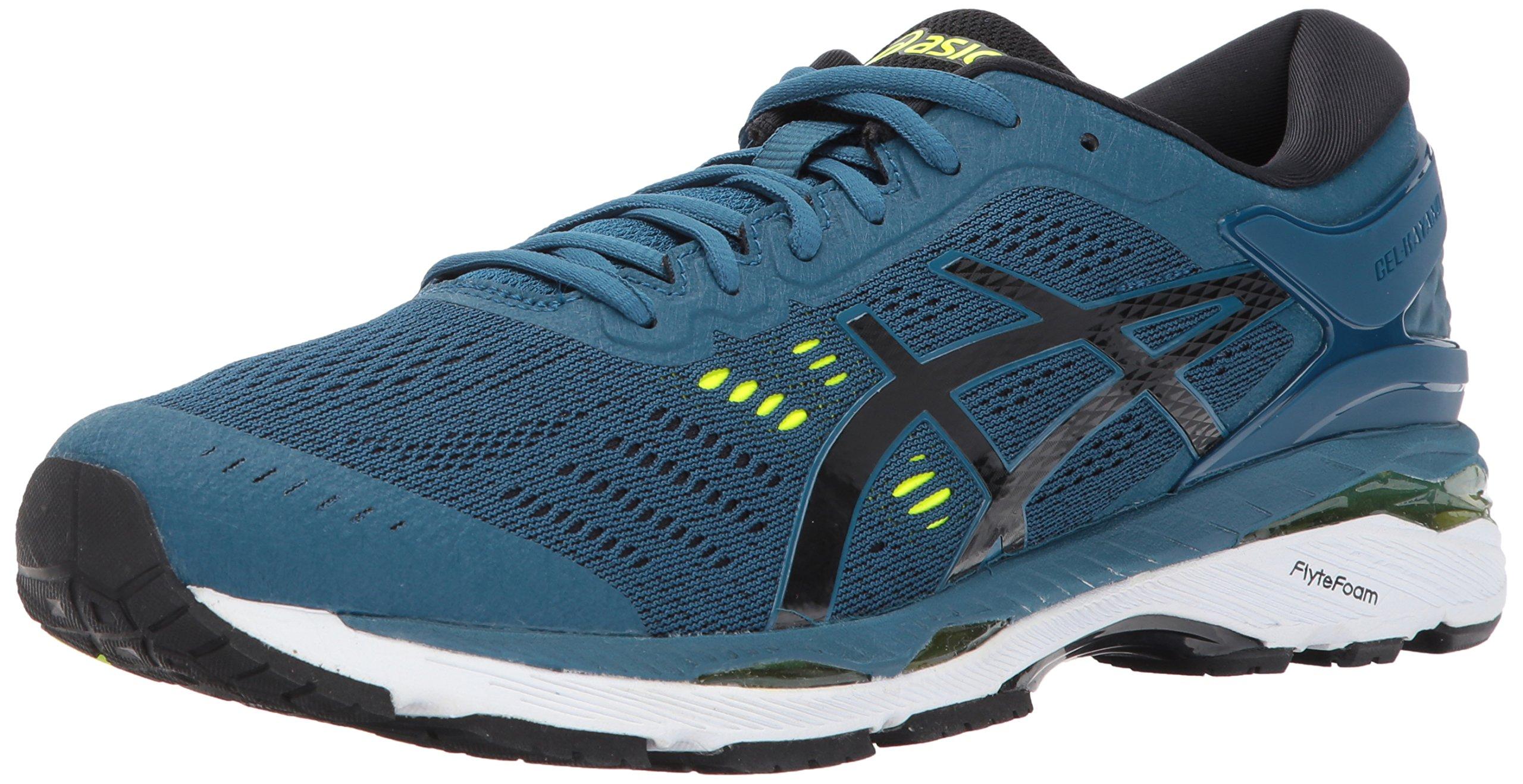 ASICS Mens Gel-Kayano 24 Running Shoe, Ink Blue/Black/Safety Yellow, 6.5 Medium US