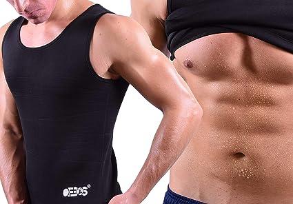 Camiseta adelgazante de neopreno para hombre Ofbos/® sudoraci/ón running efecto sauna fitness yoga pilates