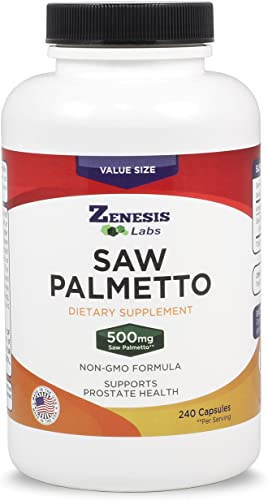 Saw Palmetto Extract – 240 Capsules – 500mg Per Capsule – More Than 200 More Capsules Than Competitors
