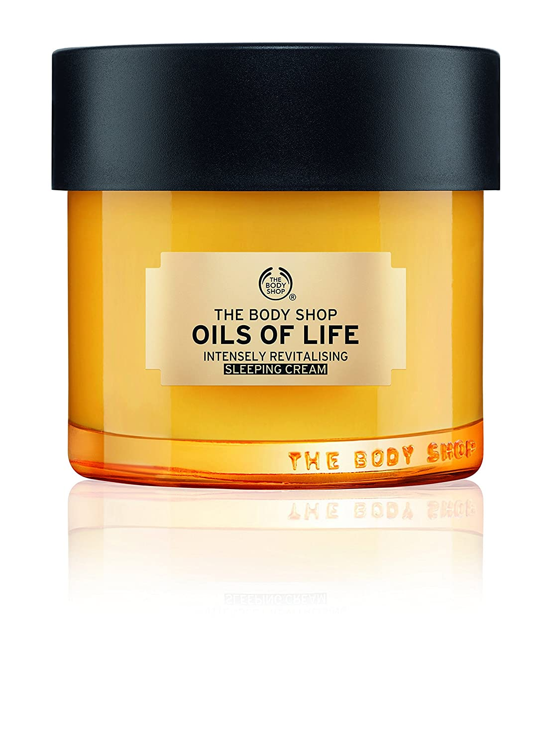 The Body Shop Oils Of Life Intensely Revitalising Sleeping Cream, 100% Vegan Night Cream, 2.7 Oz