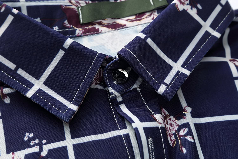 UNINUKOO Mens Short Sleeve Casual Shirts for Summer