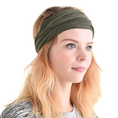 Casualbox mens Elastic Bandana Headband Japanese Long Hair Dreads Head wrap  Mix Khaki  Amazon.in  Clothing   Accessories f713b4f5936