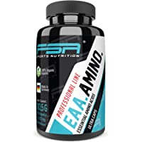 EAA essential amino acids capsules; high dose 150 capsules, 1000 mg; EAA pro-vegan capsules without additives, all 8 EAA in its purest form, from the professional sports brand FSA Nutrition