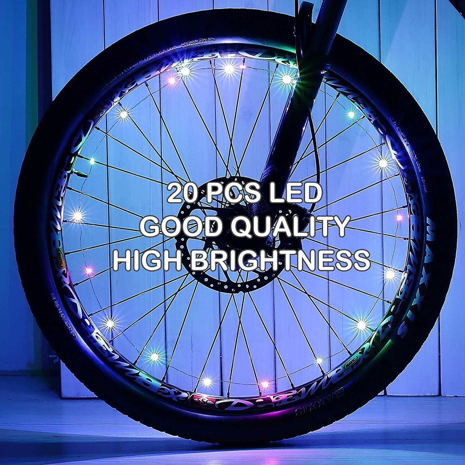 2 Pack Waterproof Bright Bicycle Tire Light Strip, Safety Spoke Lights, Cool Bike Accessories, Light Up Wheels, Safer Bicycle Spokes & Rims Light - Easy to install, No tools Needed,(2 Tiers Pack) by Cozy Homy (Image #8)