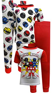 Amazon.com  Power Rangers 4 Piece Cotton Toddler Pajamas for Little Boys  (2T)  Clothing 1a25c307e