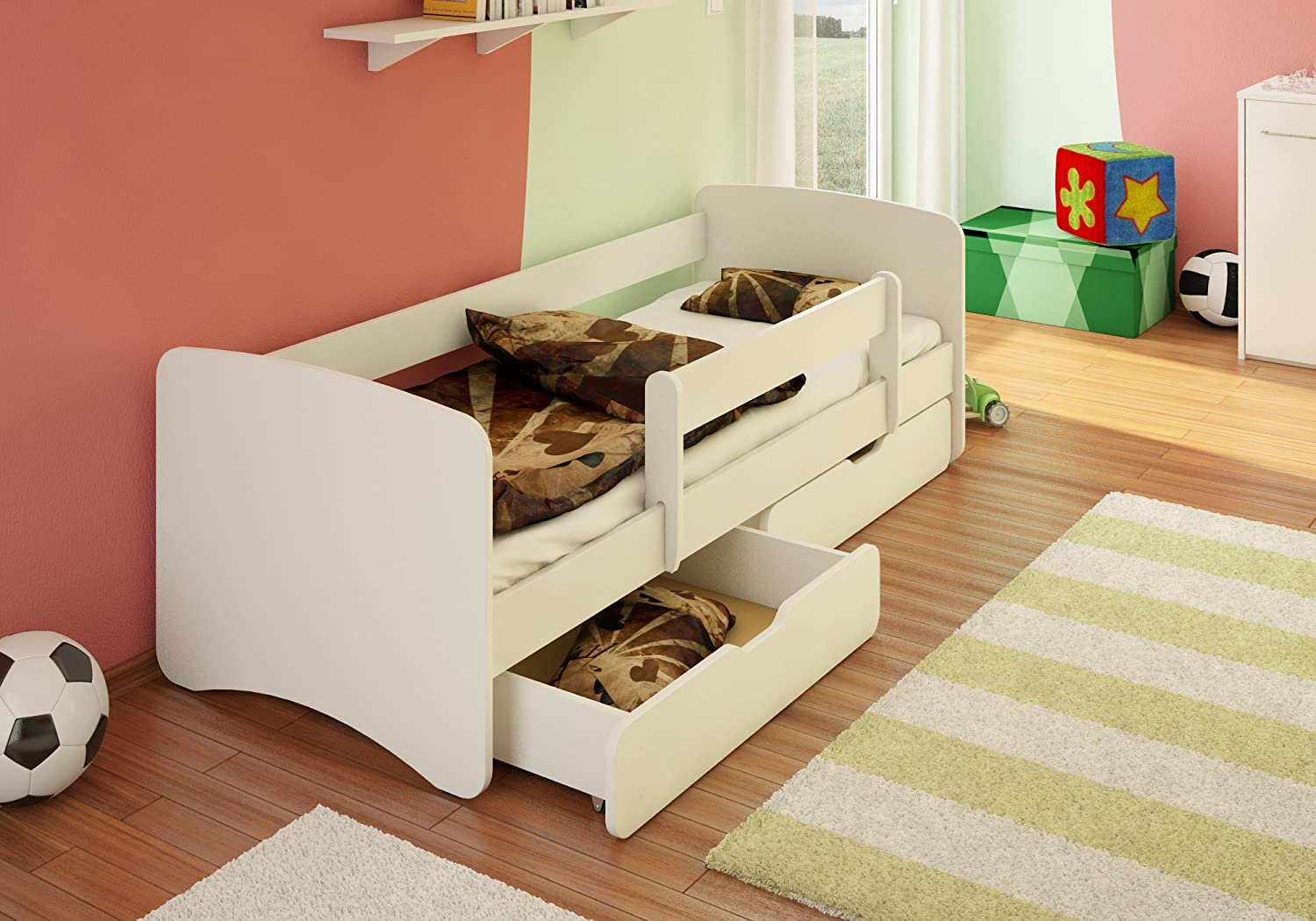 best for kids kinderbett jugendbett 80x180 mit. Black Bedroom Furniture Sets. Home Design Ideas