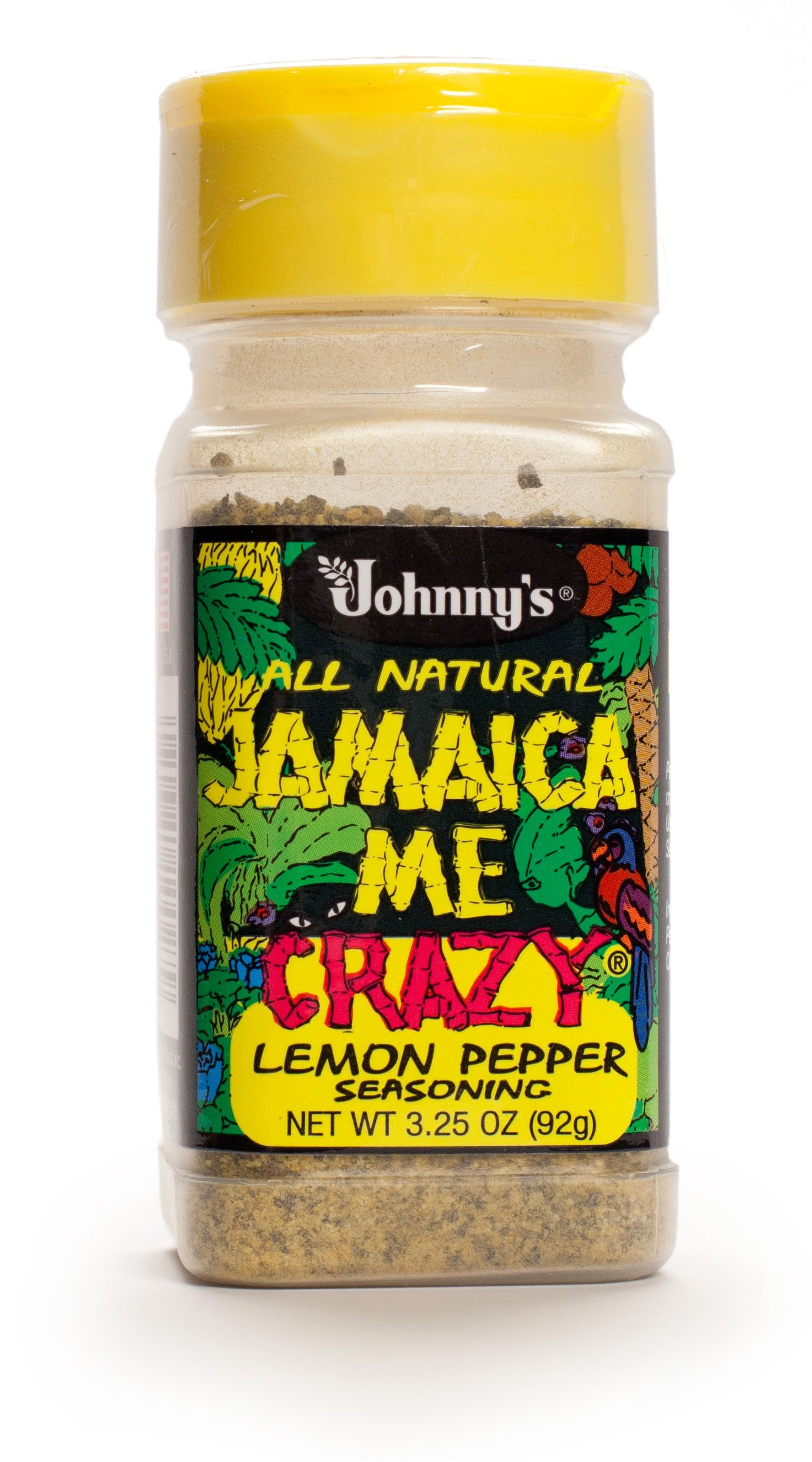 Johnny's Jamaica Me Crazy Lemon Pepper, 3.25 Ounce (Pack of 6)