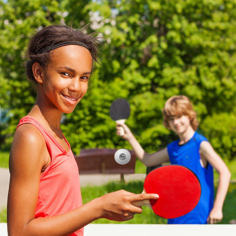 con stampate 3 stelle da 40 mm Palline da ping pong Sportly palline regolamentari per allenamento avanzato.