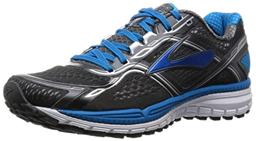 Brooks Men's Ghost 8 Anthracite/Methblue/White Running Shoe - 7 D(M) US