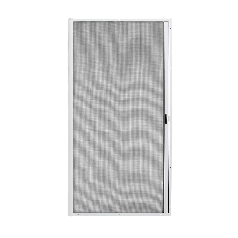 JAROLIFT 3 en 1 Store moustiquaire de porte coulissant Zanzara - Moustiquaire coulissante pour portes, cadre en aluminium 140 x 240 cm, marron