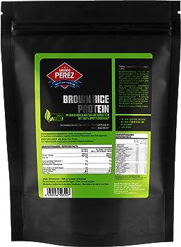 Proteína de arroz integral - 1000 g - 80% de proteína - con cuchara dosificadora y bolsa sellable