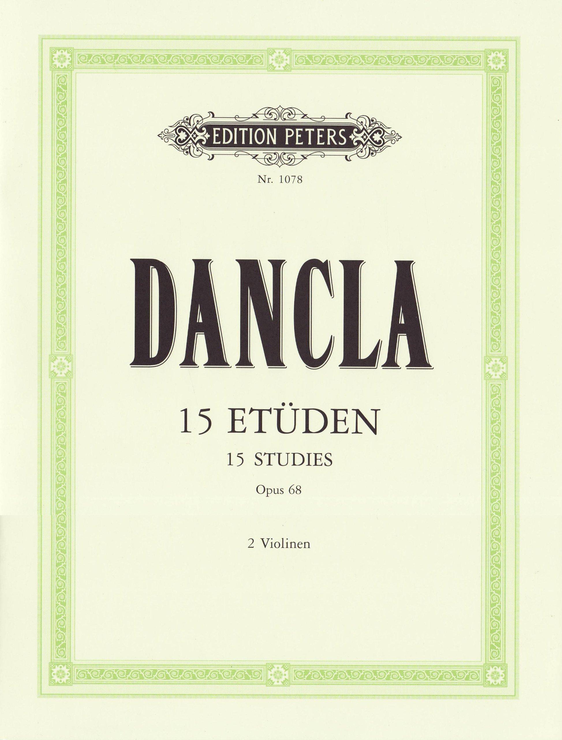 15 Etüden für Violine mit Begleitung einer zweiten Violine op. 68