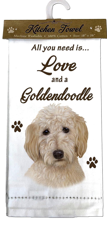 E&S Pets 700-134 Goldendoodle Kitchen Towels Off-white