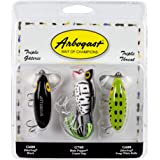 Arbogast Triple Threat Fishing Lure 3-Pack - Includes Jitterbug Lures and Hula Popper Lures