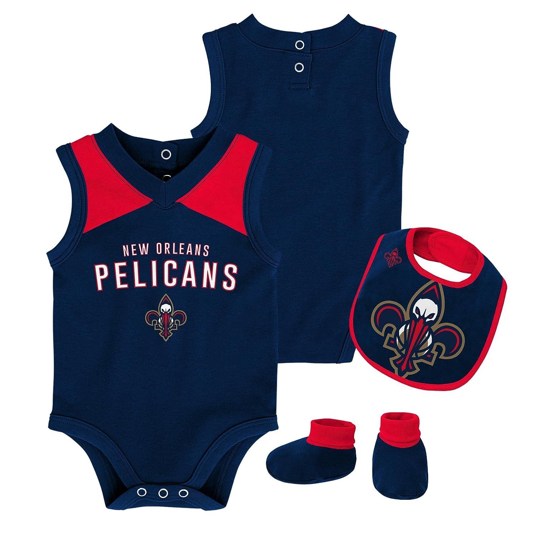 NBA Outerstuff NBA 新生児&乳児 オーバータイム ボディスーツ、よだれかけ&ブーティーセット 12 Months ダークネイビー B07FD4MHR8