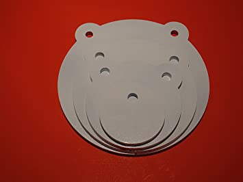 "4 pieces set AR500 gong steel shooting target 3//8/"" x 6/"" Laser Cut TGARD006"
