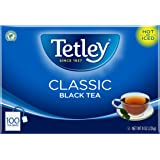Tetley Black Tea, Classic Blend, 100-Count Tea Bags, 8 Ounce, (Pack of 6)