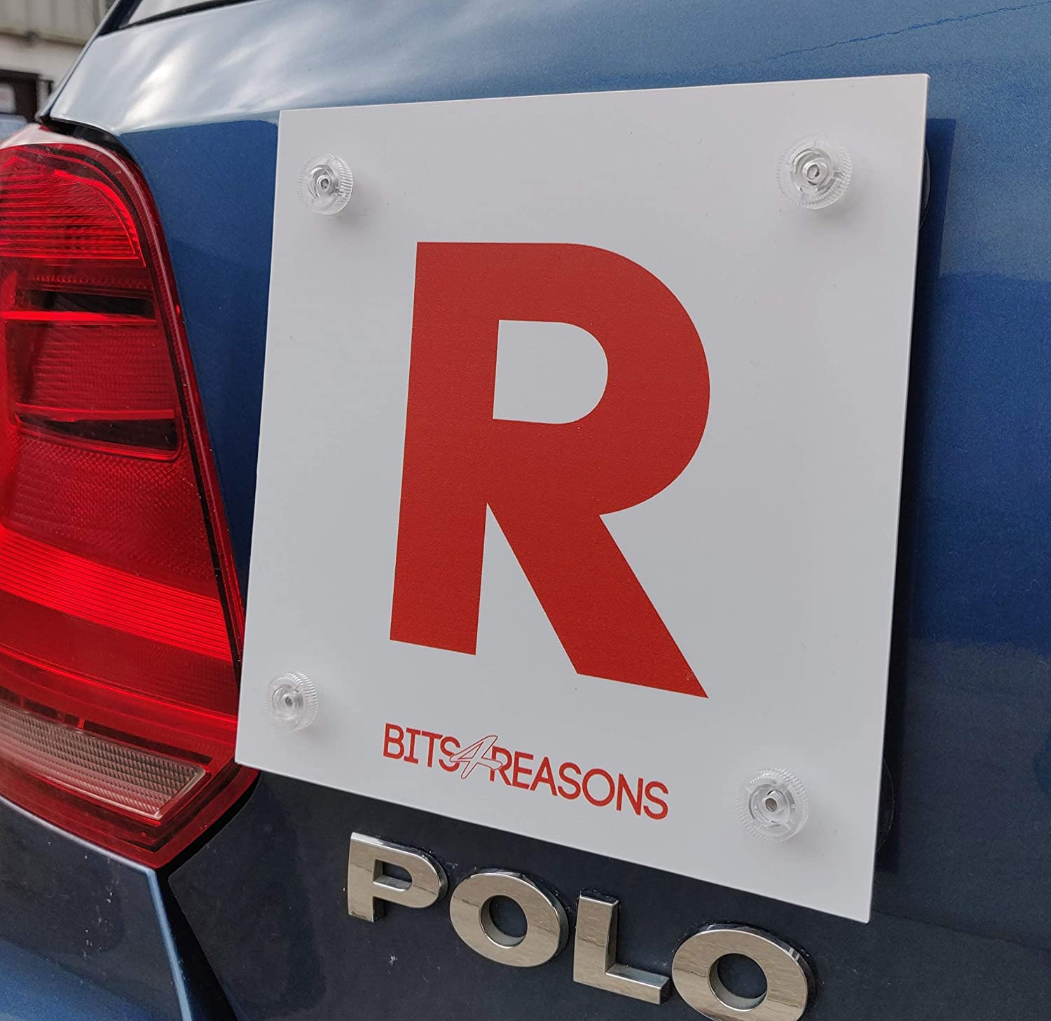 BITS4REASONS PROFESSIONAL GRADE L AND R PLATE FOR ALL SURFACES INCLUDING GLASS AND PLASTIC MOULDED BODYWORK SINGLE PLATE RESTRICTED