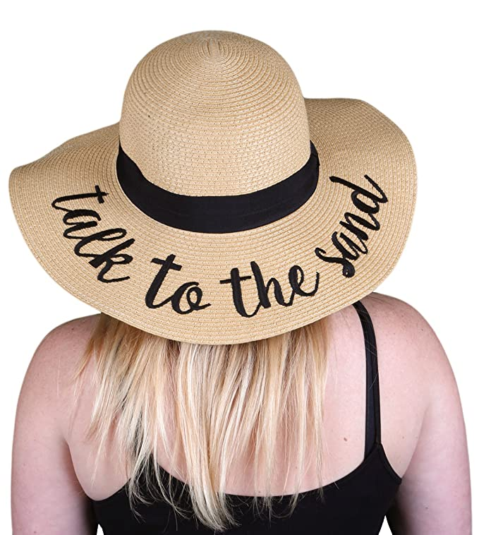 The Embroidered Adjustable Floppy Sun Hat travel product recommended by Sara Skirboll on Lifney.