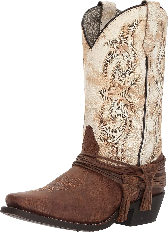 Laredo Womens Myra Square Toe Western Cowboy Dress Boots Mid Calf Low Heel 1-2