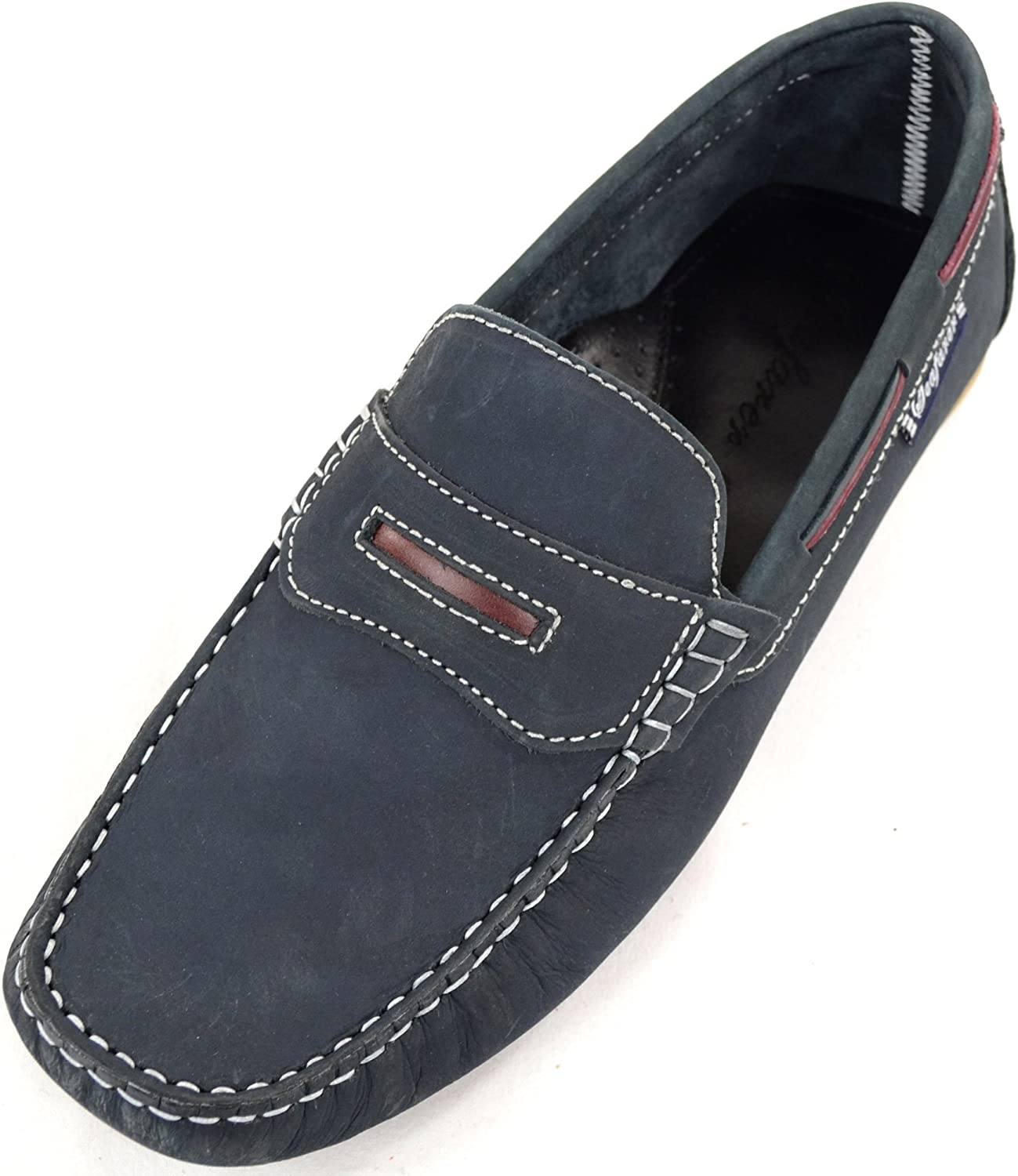 SNUGRUGS Mens Leather Casual//Formal Slip On Boat//Deck Loafer//Moccasin Shoes
