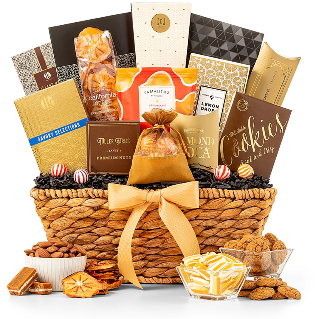 GiftTree Gourmet Chocolate & Snack Food Gift Basket | Assortments of Popcorn, Almond Roca, Biscotti, and Cookies