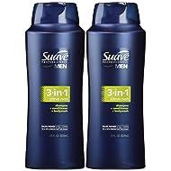 Suave Professionals Mens, 3-in-1 Shampoo/Conditioner/Body Wash, Citrus Rush, 28 Oz (Pack of 2)