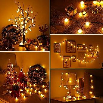 30 DEL Guirlande électrique éclairage deco Noël intérieur à piles