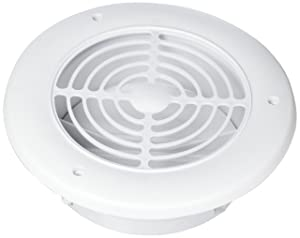 "Imperial VT0542 Soffit Exhaust Vent, 4"" & 6"", White"