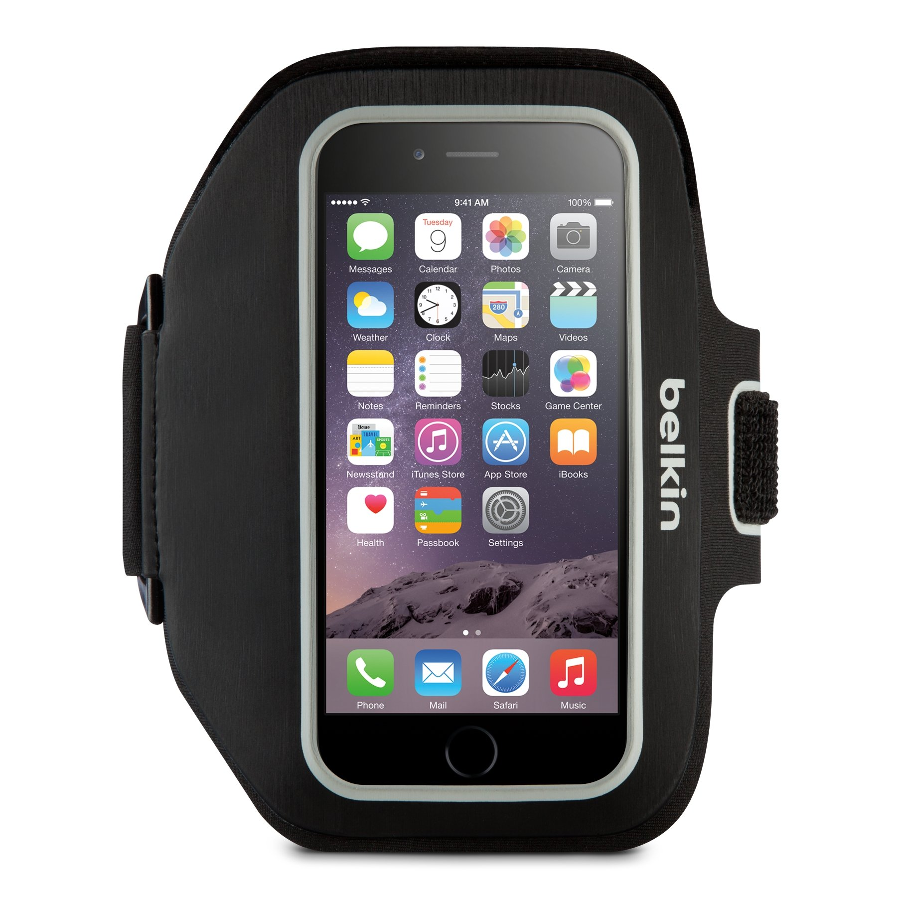 Belkin Sport-Fit Plus Armband for iPhone 6 Plus / 6S Plus, Fitbit Alta, Fitbit Blaze and Fitbit Charge HR (Black) by Belkin