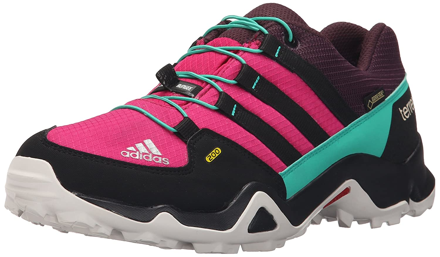 adidas outdoor Terrex Gore-Tex Hiking Boot (Little Kid/Big Kid) Bold Pink/Black/Shock Mint 12.5 M US Little Kid Terrex GORE-TEX - K
