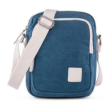 333e4c98fddcf LaRechor Canvas Kleine Schultertasche Umhängetasche Handytasche Reisetasche  Crossover Tasche für Damen Herren Jungen Mädchen mit Vielen