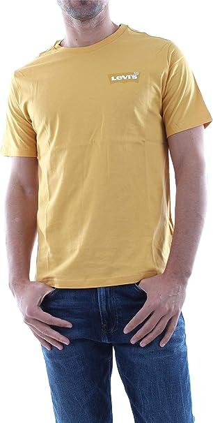 Camiseta Levis Hausemark Amarillo Hombre: Amazon.es: Ropa y accesorios
