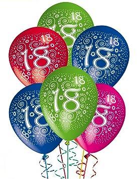 Globos cumpleaños 18 años decoración de fiesta helio - Paquete de 25 unidades