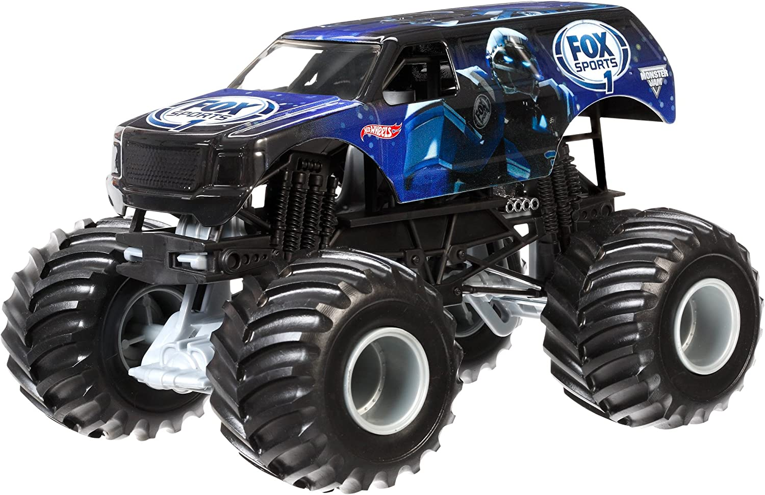 Amazon Com Hot Wheels Monster Jam Cletus Vehicle 1 24 Scale Toys Games