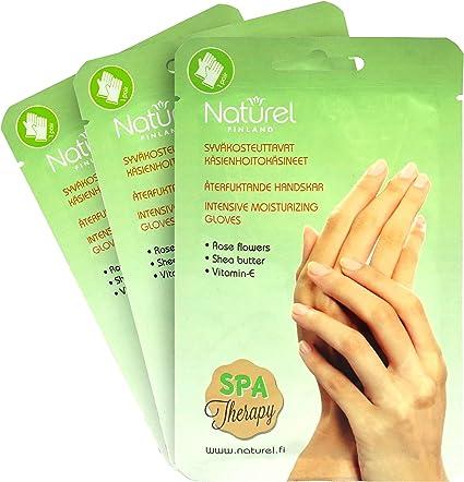 Mascarilla para manos secas, guantes hidratantes coreanos ricos y tratamiento de spa de manteca de karité, 3 unidades: Amazon.es: Belleza