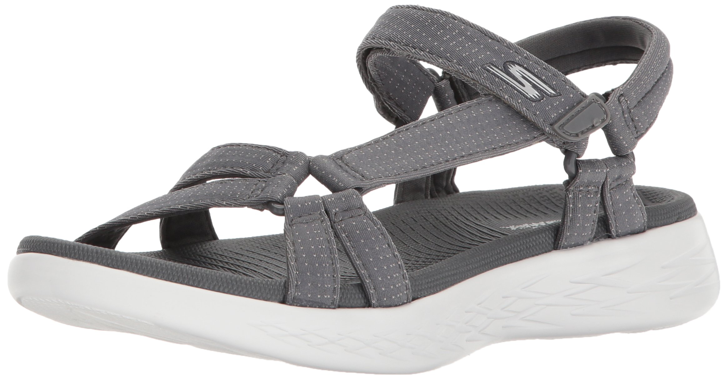 Skechers Performance Women's on-The-Go 600-Brilliancy Sport Sandal, Charcoal, 7 M US